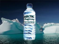A future advertisement for bottled Arctic melt-off.