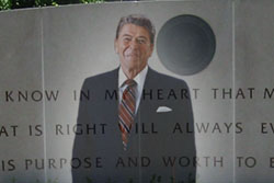 Ronald Reagan's ghost appeared quite distressed as he delivered a strong condemnation of today's Republican Party from his tomb in Simi Valley.