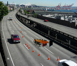 Special lanes on the Alaskan Way Viaduct are reserved for committee meetings three times a week.