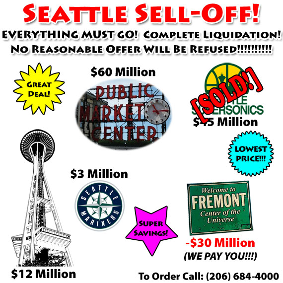 Seattle Sell-Off!