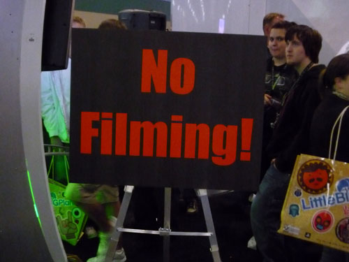 NO FILMING